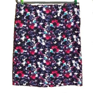 Talbots Abstract Multicolored Floral Pencil Skirt
